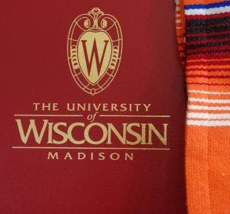 diploma cover and serape stole