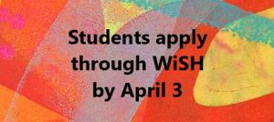 Students Apply by April 3 [link]