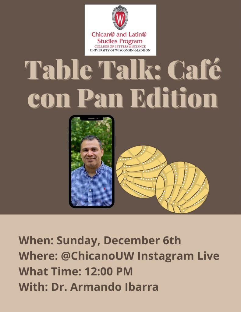 """Flier for Armando Ibarra """"Cafe con Pan Edition"""""""