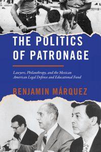 """Politics of Patronage"" Book Cover"