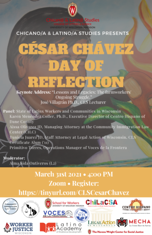 Cesar Chavez Day of Reflection Flyer